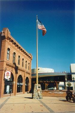 Wooden Flagpole Photo Gallery | Boathouse Flag & Flagpole